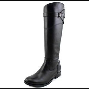 NWT FRYE Black Molly Button Tall Riding Boot